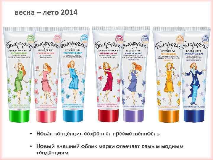 весна – лето 2014 • Новая концепция сохраняет преемственность • Новый внешний облик марки