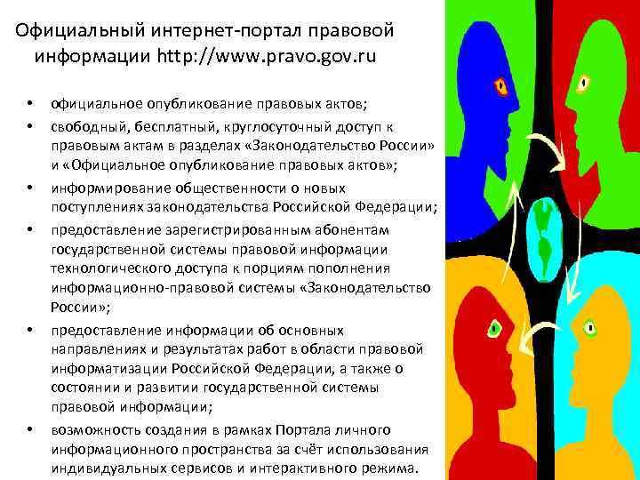 Официальный интернет-портал правовой информации http: //www. pravo. gov. ru • • • официальное опубликование