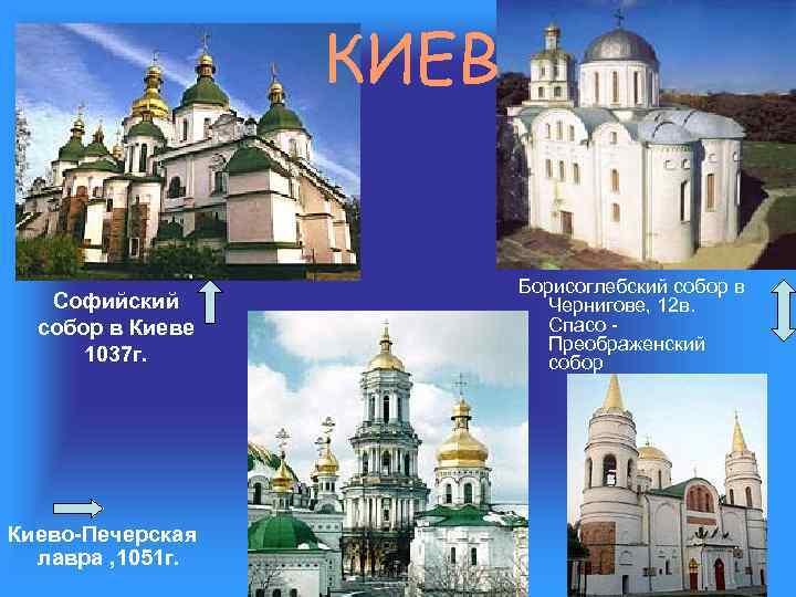 КИЕВ Софийский собор в Киеве 1037 г. Киево-Печерская лавра , 1051 г. Борисоглебский собор