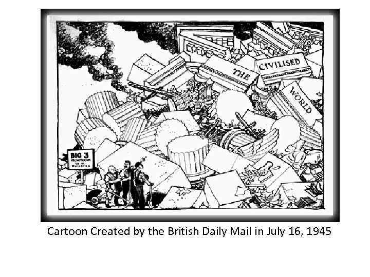 Cartoon Created by the British Daily Mail in July 16, 1945