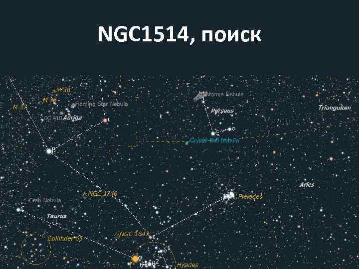 NGC 1514, поиск