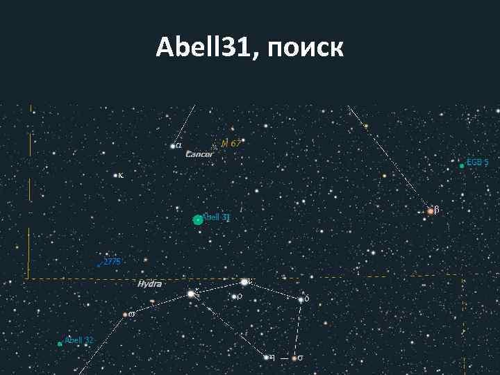 Abell 31, поиск