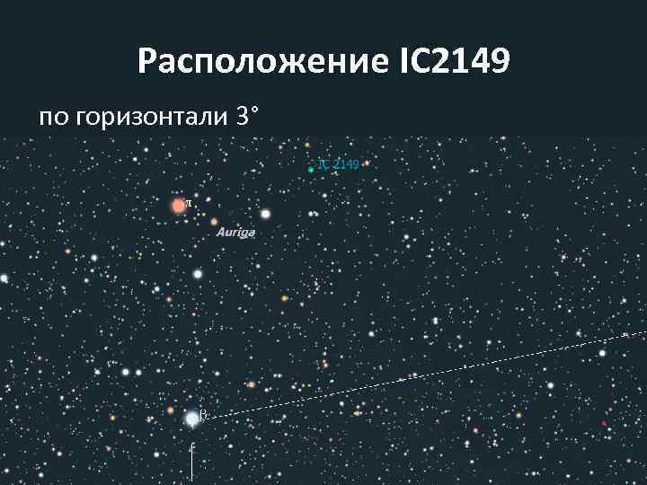 Расположение IC 2149 по горизонтали 3°