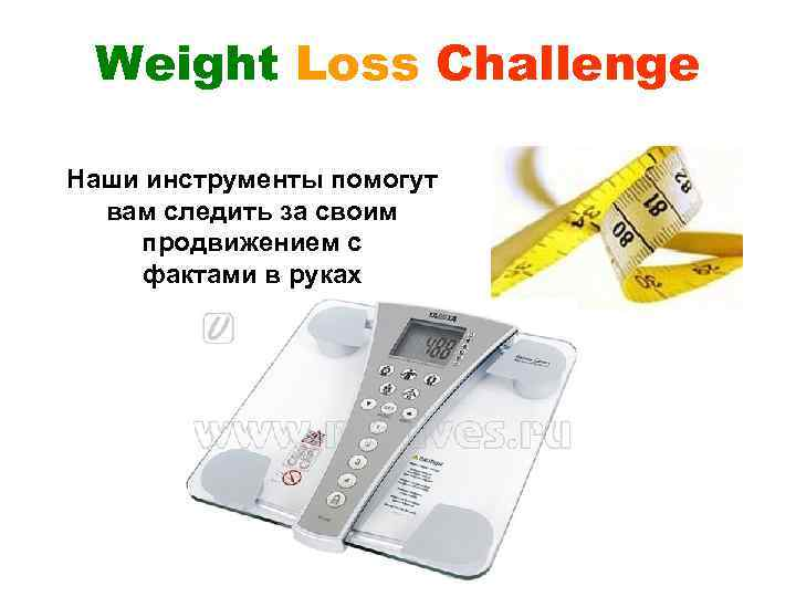 Weight Loss Challenge Наши инструменты помогут вам следить за своим продвижением с фактами в