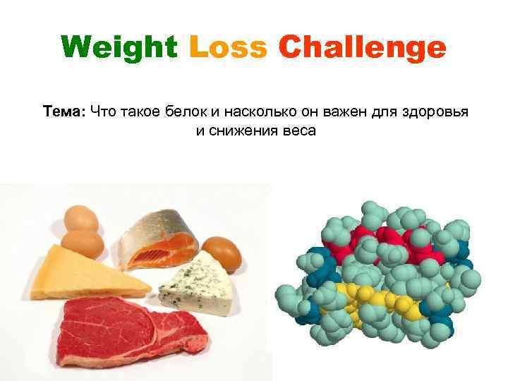 Weight Loss Challenge Тема: Что такое белок и насколько он важен для здоровья и