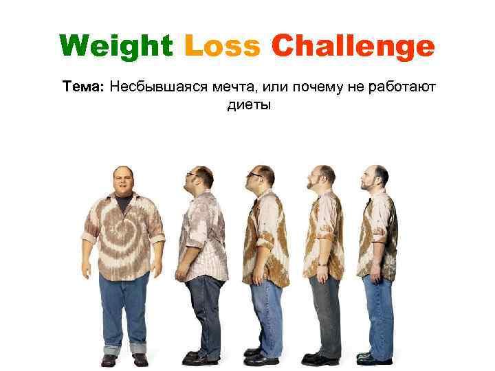 Weight Loss Challenge Тема: Несбывшаяся мечта, или почему не работают диеты