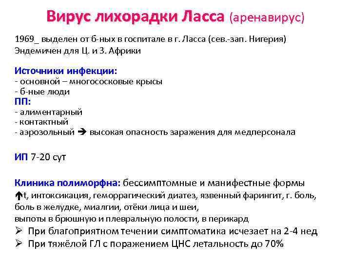 Вирус лихорадки Ласса (аренавирус) 1969_ выделен от б-ных в госпитале в г. Ласса (сев.