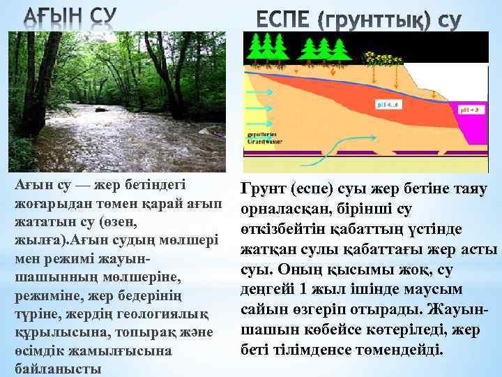 Ағын су — жер бетіндегі жоғарыдан төмен қарай ағып жататын су (өзен, жылға). Ағын