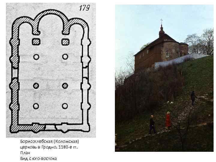 Борисоглебская (Коложская) церковь в Гродно. 1180 -е гг. План Вид с юго-востока