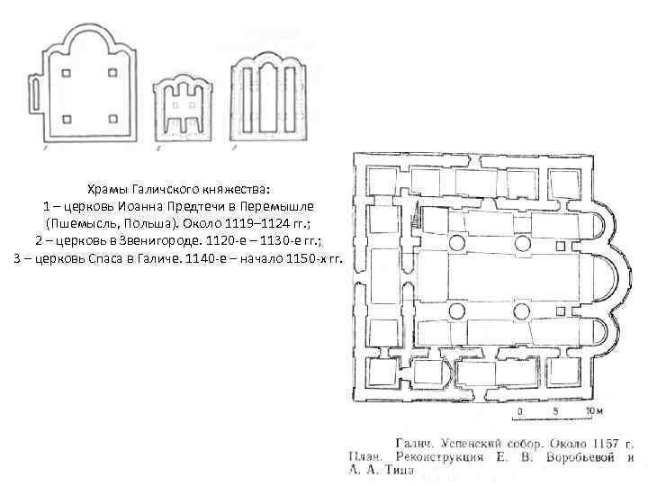 Храмы Галичского княжества: 1 – церковь Иоанна Предтечи в Перемышле (Пшемысль, Польша). Около 1119–