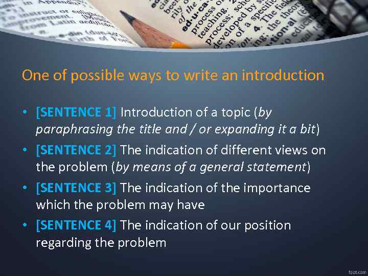 ways to write an introduction