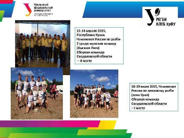 12 -14 апреля 2015, Республика Крым Чемпионат России по регби 7 среди мужских команд