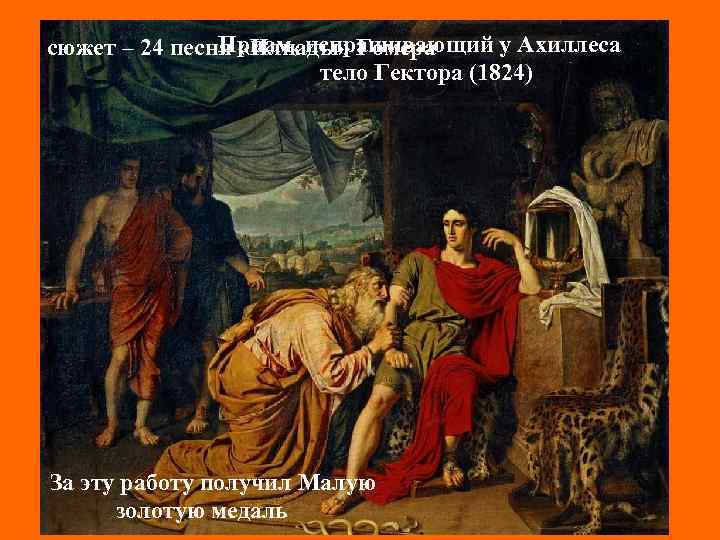 Приам, испрашивающий у Ахиллеса Александр Андреевич сюжет – 24 песня «Илиады» Гомера Иванов тело