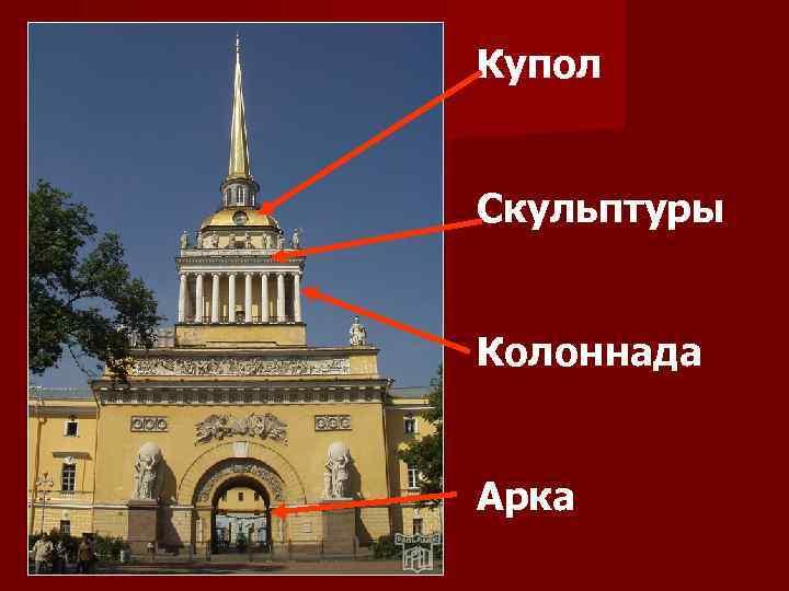 Купол Скульптуры Колоннада Арка