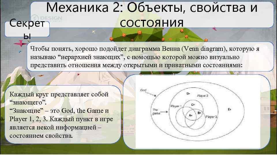 Механика 2: Объекты, свойства и Секрет состояния ы Чтобы понять, хорошо подойдет диаграмма Венна