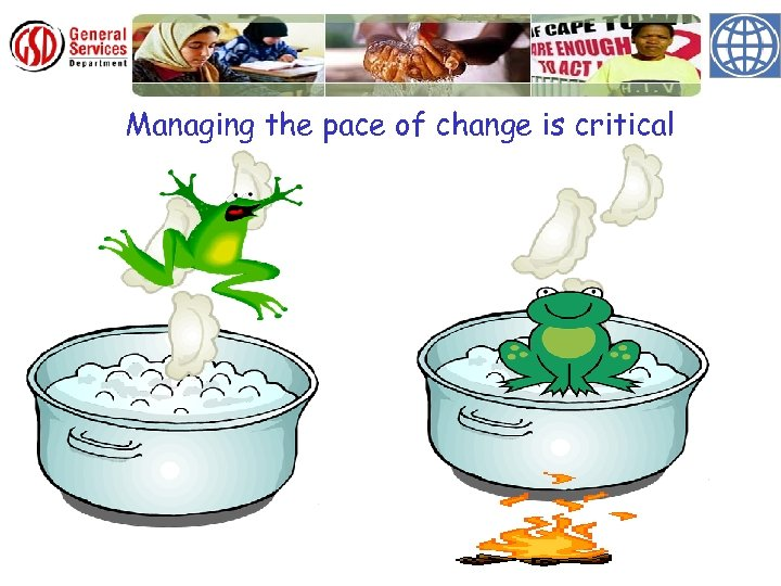 Managing the pace of change is critical