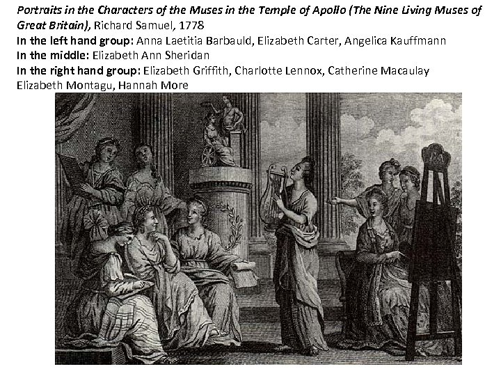 Portraits in the Characters of the Muses in the Temple of Apollo (The Nine