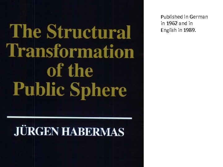 Published in German in 1962 and in English in 1989.