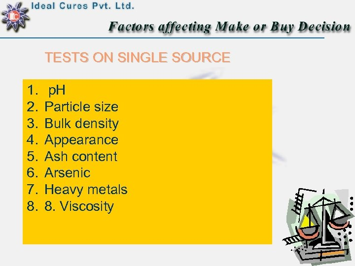 TESTS ON SINGLE SOURCE 1. 2. 3. 4. 5. 6. 7. 8. p. H
