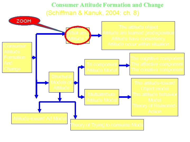 Consumer Attitude Formation and Change (Schiffman & Kanuk, 2004: ch. 8) ZOOM (1) What