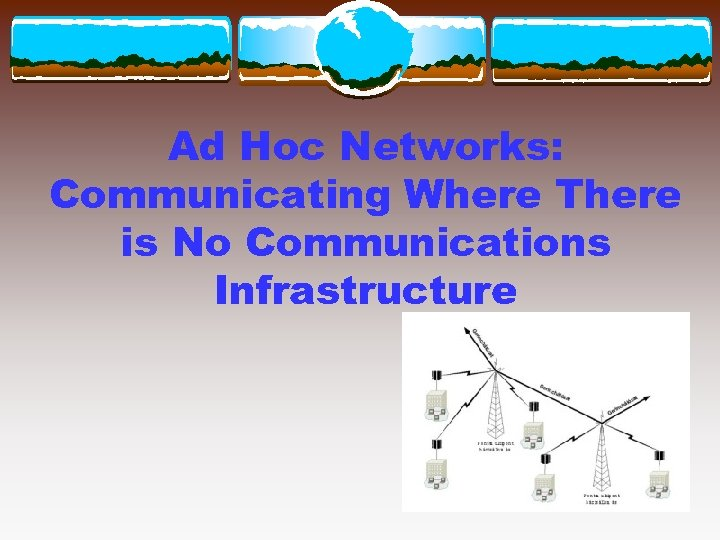 Ad Hoc Networks: Communicating Where There is No Communications Infrastructure
