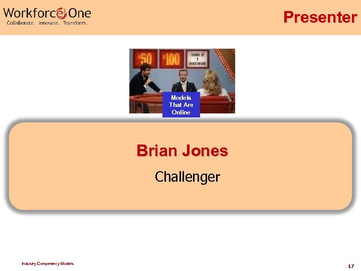 Presenter Models That Are Online Brian Jones Challenger Industry Competency Models 17