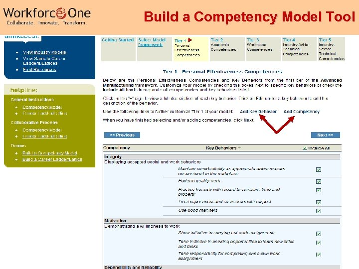 Build a Competency Model Tool Industry Competency Models 35