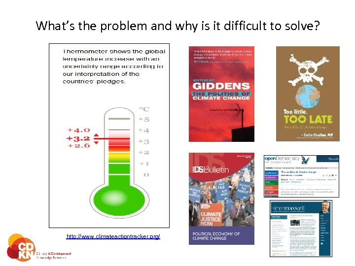What's the problem and why is it difficult to solve? http: //www. climateactiontracker. org/