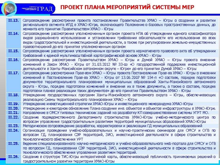 институт территориального планирования II. 13. II. 14. II. 15. II. 16. II. 17. II.
