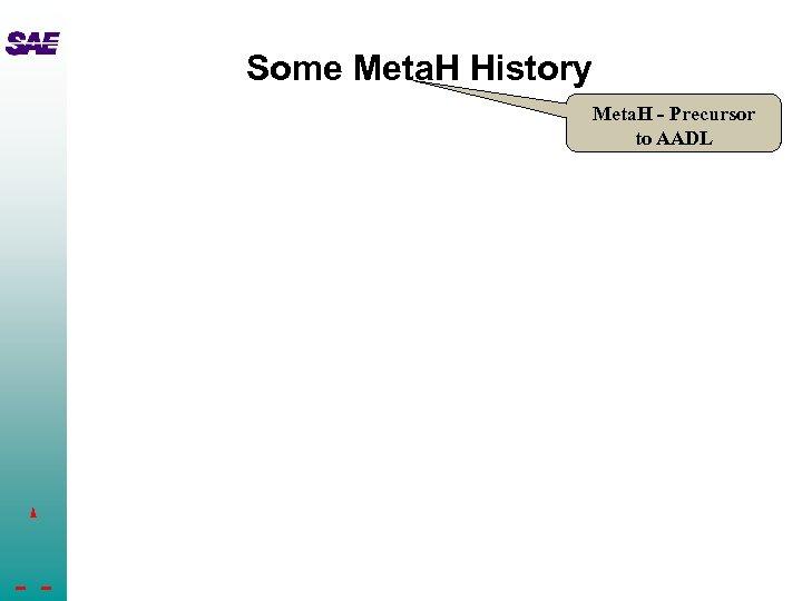 Some Meta. H History Meta. H - Precursor to AADL