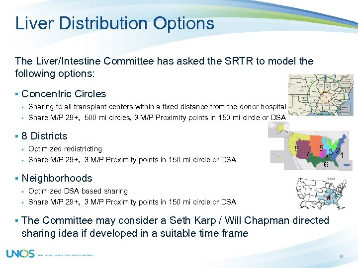 Liver Distribution Options The Liver/Intestine Committee has asked the SRTR to model the following