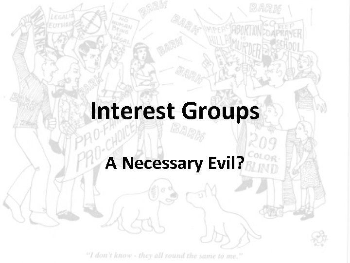 Interest Groups A Necessary Evil?