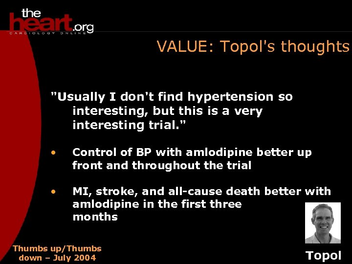 VALUE: Topol's thoughts