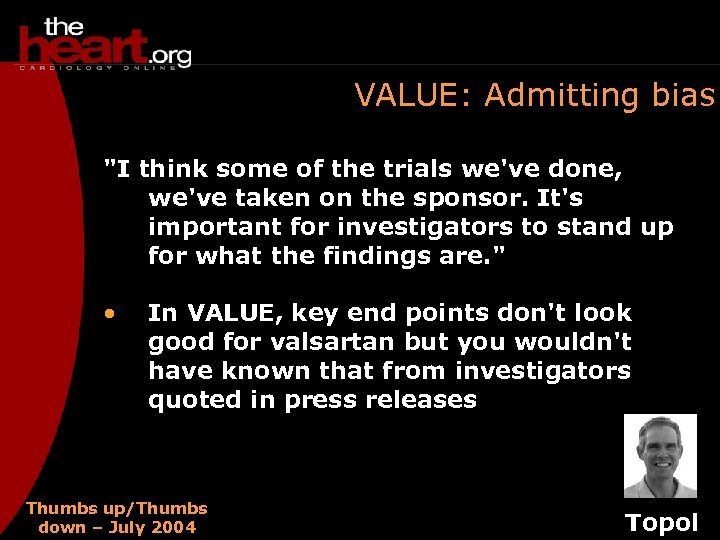 VALUE: Admitting bias