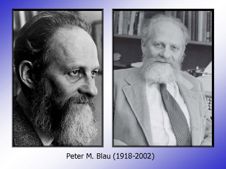 Peter M. Blau (1918 -2002)