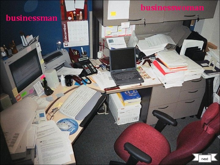 businesswoman businessman next