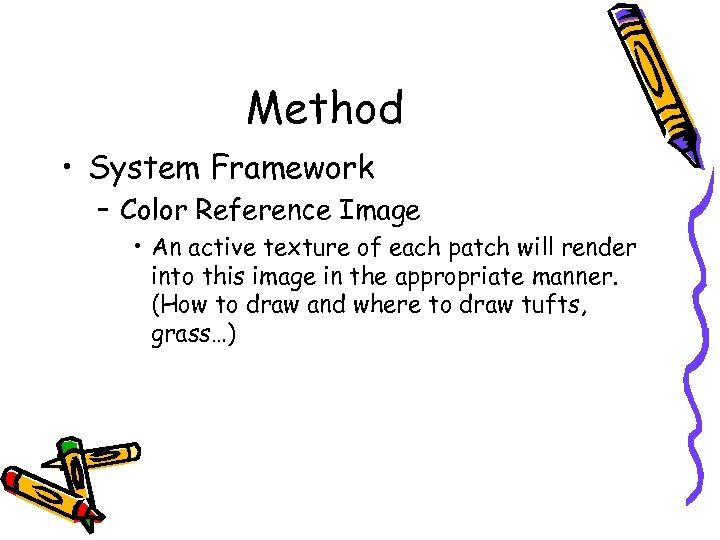 Method • System Framework – Color Reference Image • An active texture of each