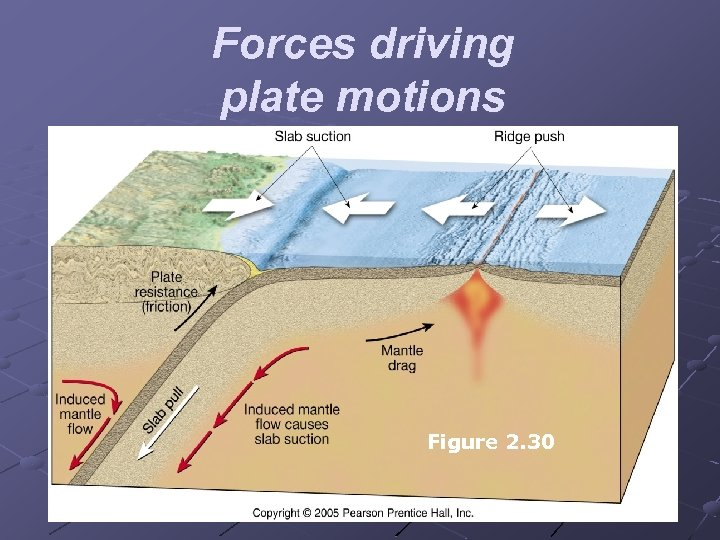 Forces driving plate motions Figure 2. 30