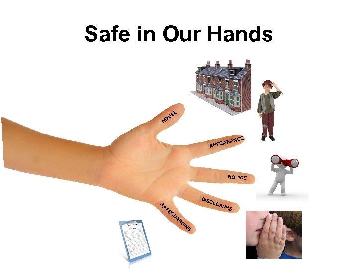 Safe in Our Hands SE U HO E RANC PPEA A NOTICE DIS CLO