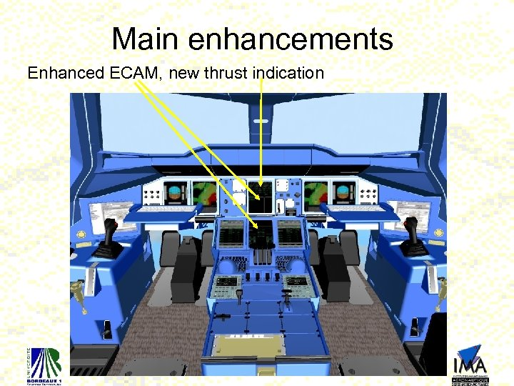 Main enhancements Enhanced ECAM, new thrust indication 21