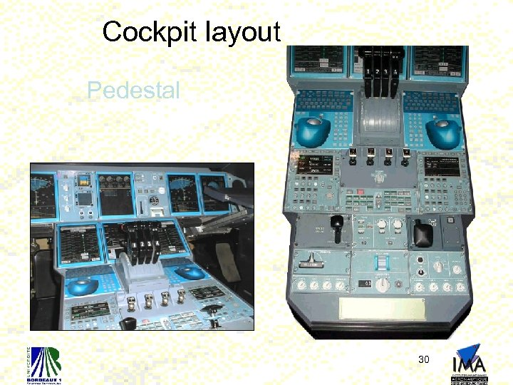 Cockpit layout Pedestal 30