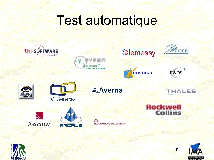 Test automatique 81