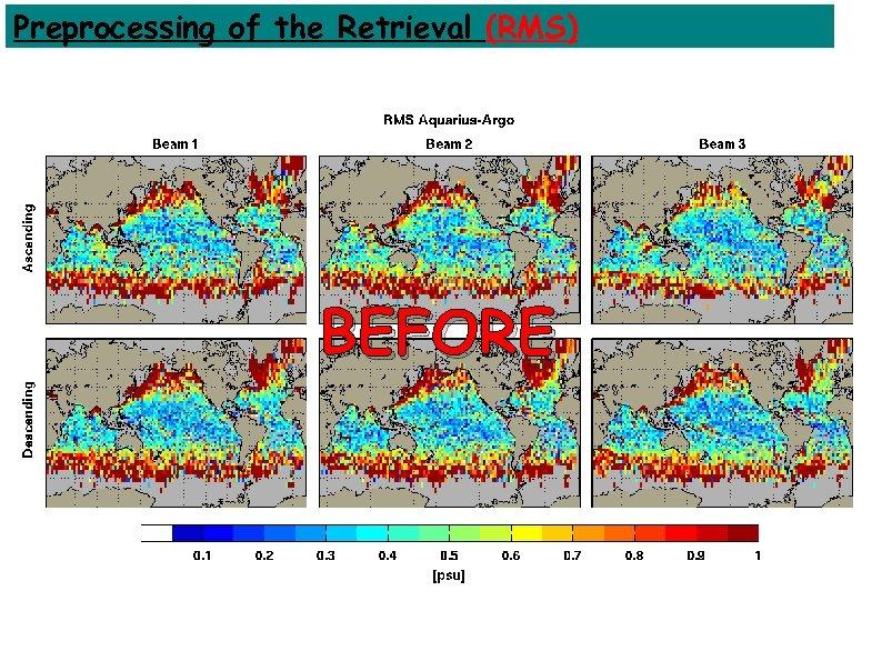 Preprocessing of the Retrieval (RMS) BEFORE