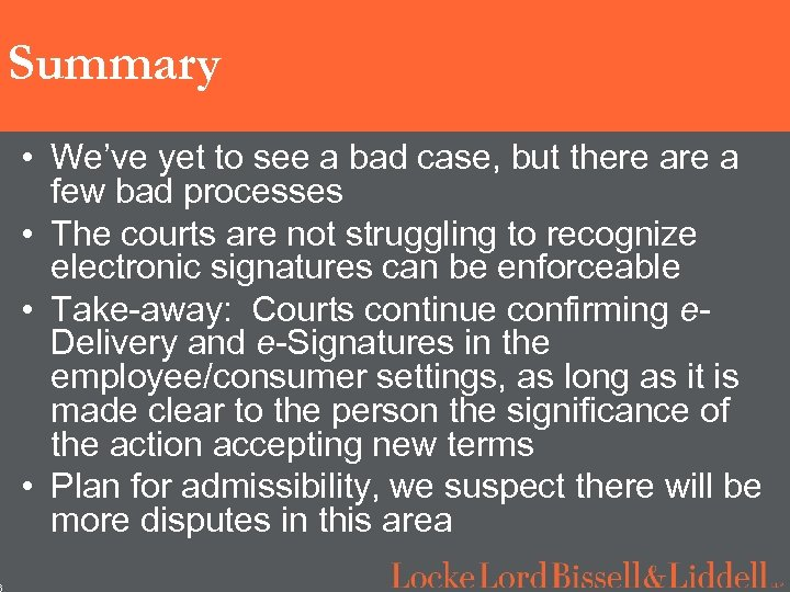 6 Summary • We've yet to see a bad case, but there a few