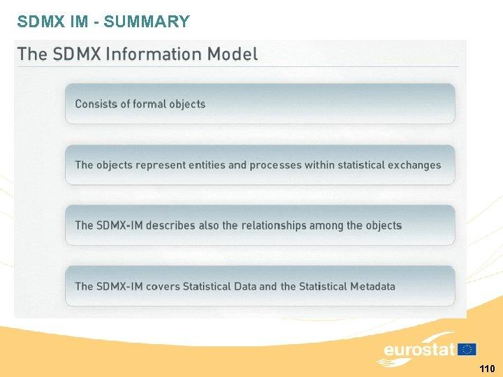 SDMX IM - SUMMARY 110
