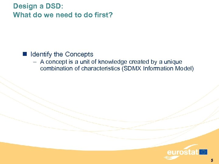 Design a DSD: What do we need to do first? n Identify the Concepts