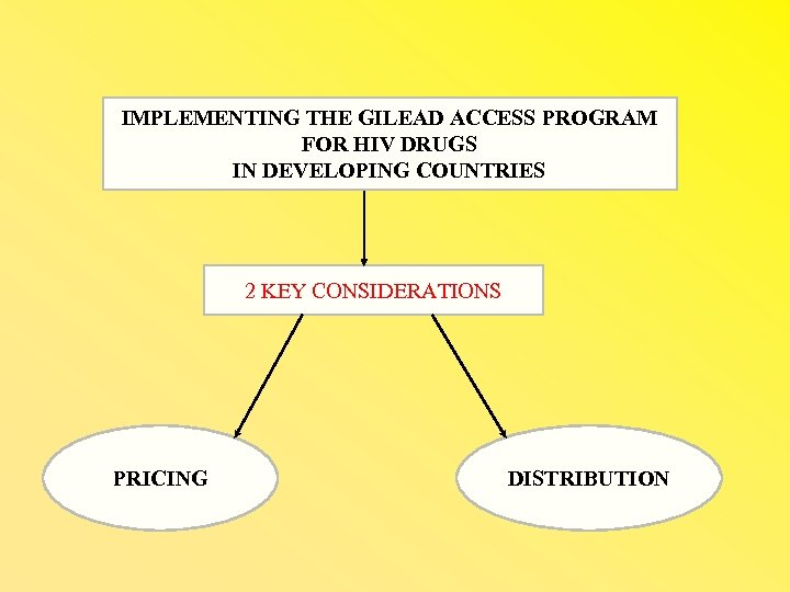 IMPLEMENTING THE GILEAD ACCESS PROGRAM FOR HIV DRUGS IN DEVELOPING COUNTRIES 2 KEY CONSIDERATIONS
