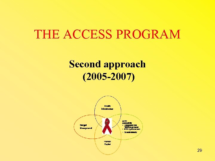 THE ACCESS PROGRAM Second approach (2005 -2007) 29