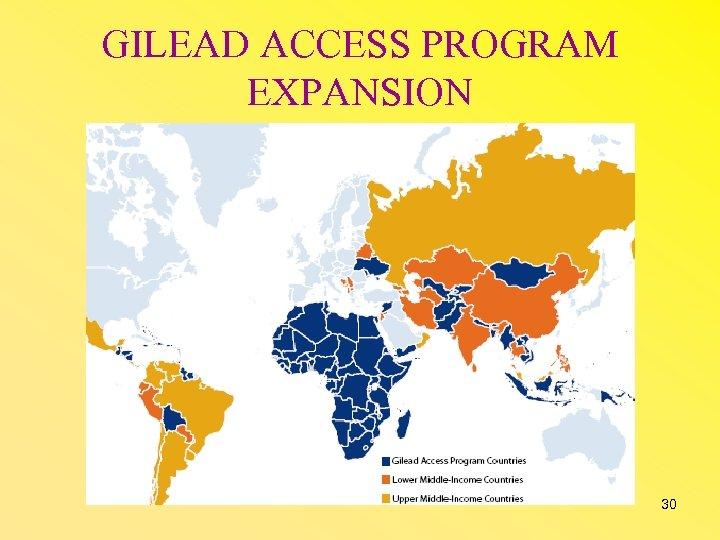GILEAD ACCESS PROGRAM EXPANSION 30