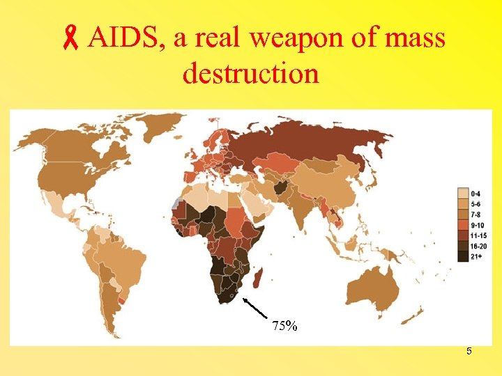 AIDS, a real weapon of mass destruction 75% 5